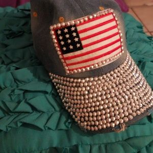Accessories - Womens Rhinestone  Baseball Cap